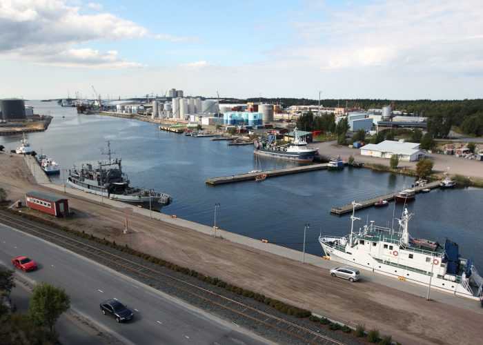 Rauman satamaa Merimäen suunnasta. Kuva: Jussi Partanen. Rauman satamaa. Rauma harbour.