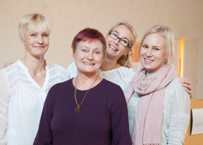 Marjo Keckman, Satu Vaininen, Anna Kantonen and Maarit Ylönen