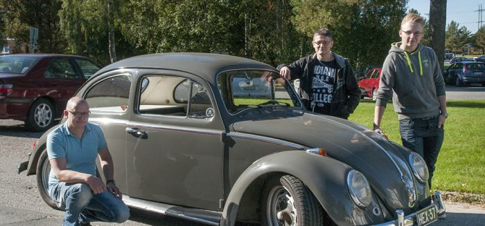 Ossi Ojansivu (vas.), Jarkko Halmela ja Aleksi Aaltonen ovat olleet mukana opiskelijaprojektissa.