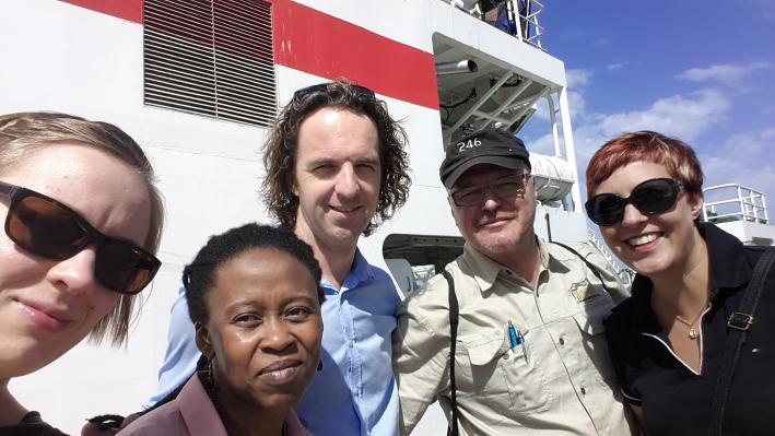 Namibiassa Olenius Kgabi Rijnen Koivisto ja Keinanen-Toivola