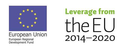 European union logo and Leverage from the EU 2014 -2020 logo