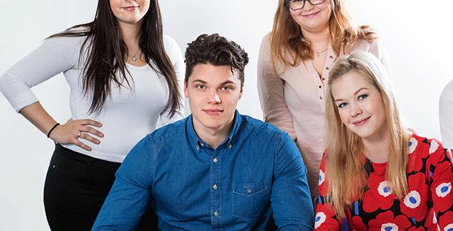 SAMKin opiskelijoita Rauman kampuksella.