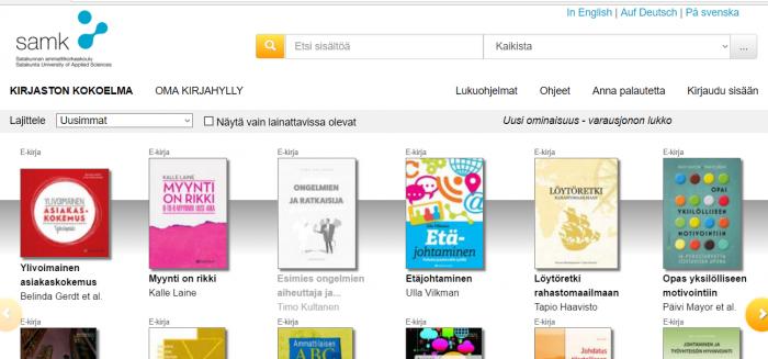 Ellibs-kirjasto, näytönkaappaus, screenshot