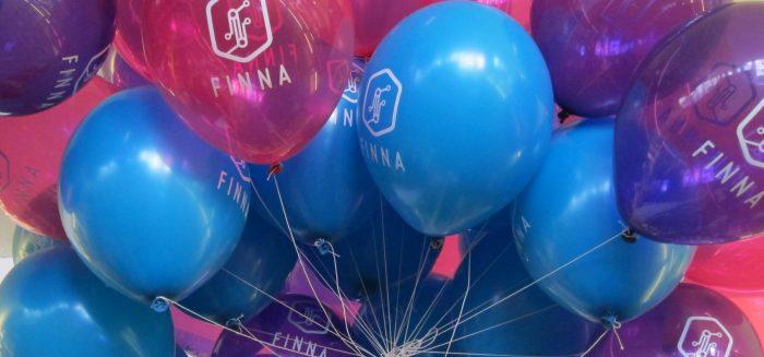 Finna-ilmapalloja. Finna balloons.