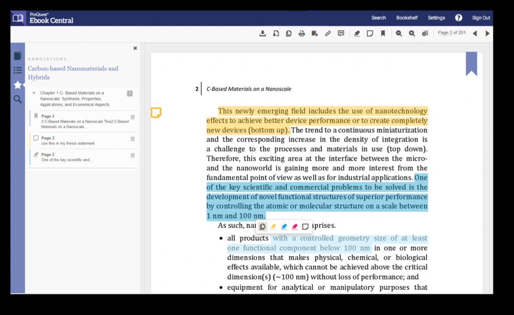 Ebook Central ebook notes