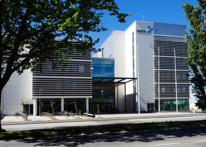SAMK-campus Pori entrance.