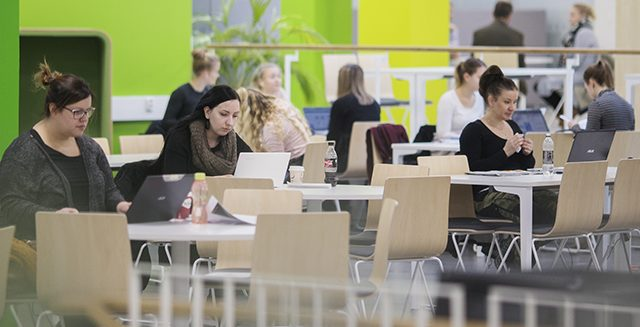 Students in Pori campus library.