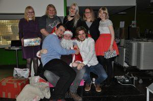 SAMK international students taking part in Christmas dinner.