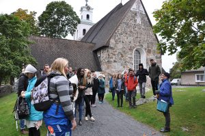 SAMK international students getting to know Rauma.