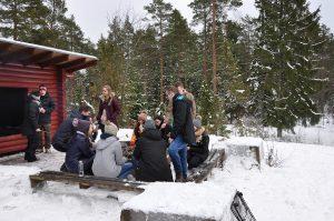 SAMK international students taking part in get-together day.