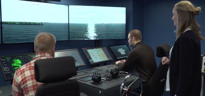 Maritime simulator in SAMK campus Rauma.