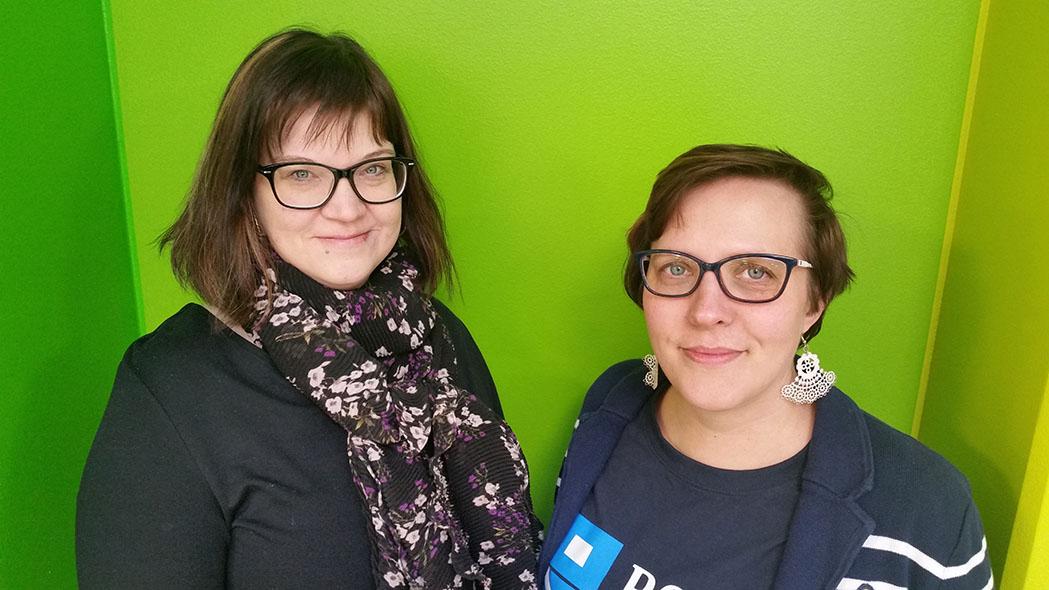 Lähikuva, Sanna Renfors ja Minna Keinänen-Toivola.