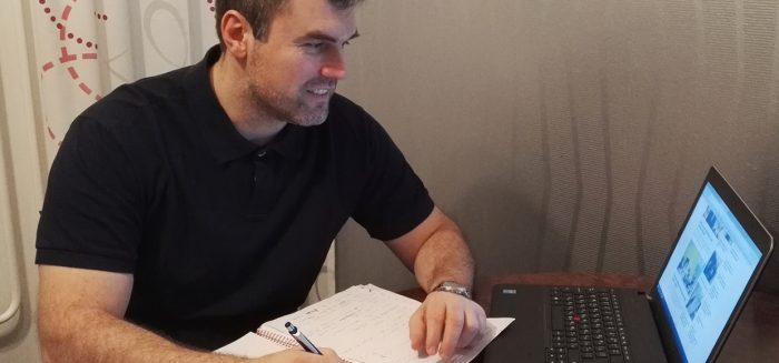 SAMKin Industrial Management -opiskelija Vaklin Angelov.