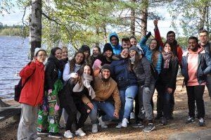 SAMK international students in a get-together day.