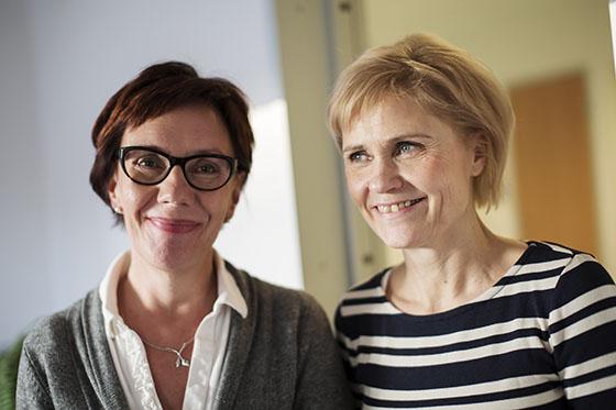 Vanhustyön opettajat Päivi Kankaanranta ja Sari Teeri