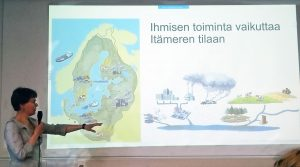 From Meremme tähden event 2018, a pic from researcher's presentation