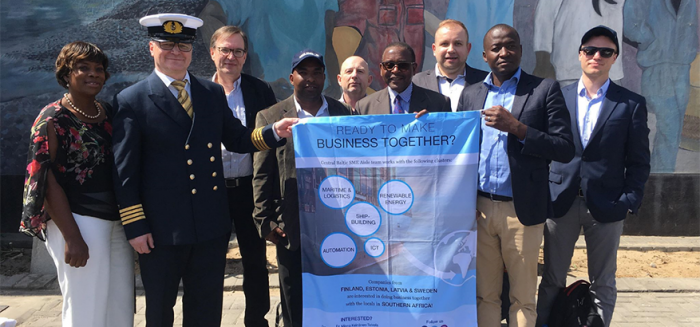 Companies focusing on maritime and logistics visited the coastal area of Walvis Bay in Namibia and Durban in South Africa during the delegation trip.