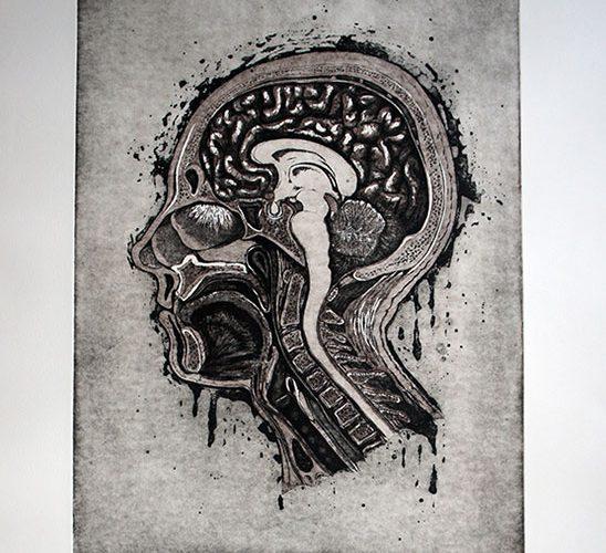 Kuukauden kuva Ottilia Roos Identiteetti grafiikanvedos