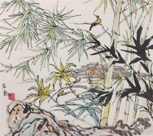 Kiinalainen taideteos.