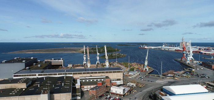 SeaSide Industry Park Raumalla yleiskuva ylhaalta