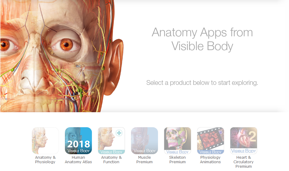Anatomy apps from Visible Body.