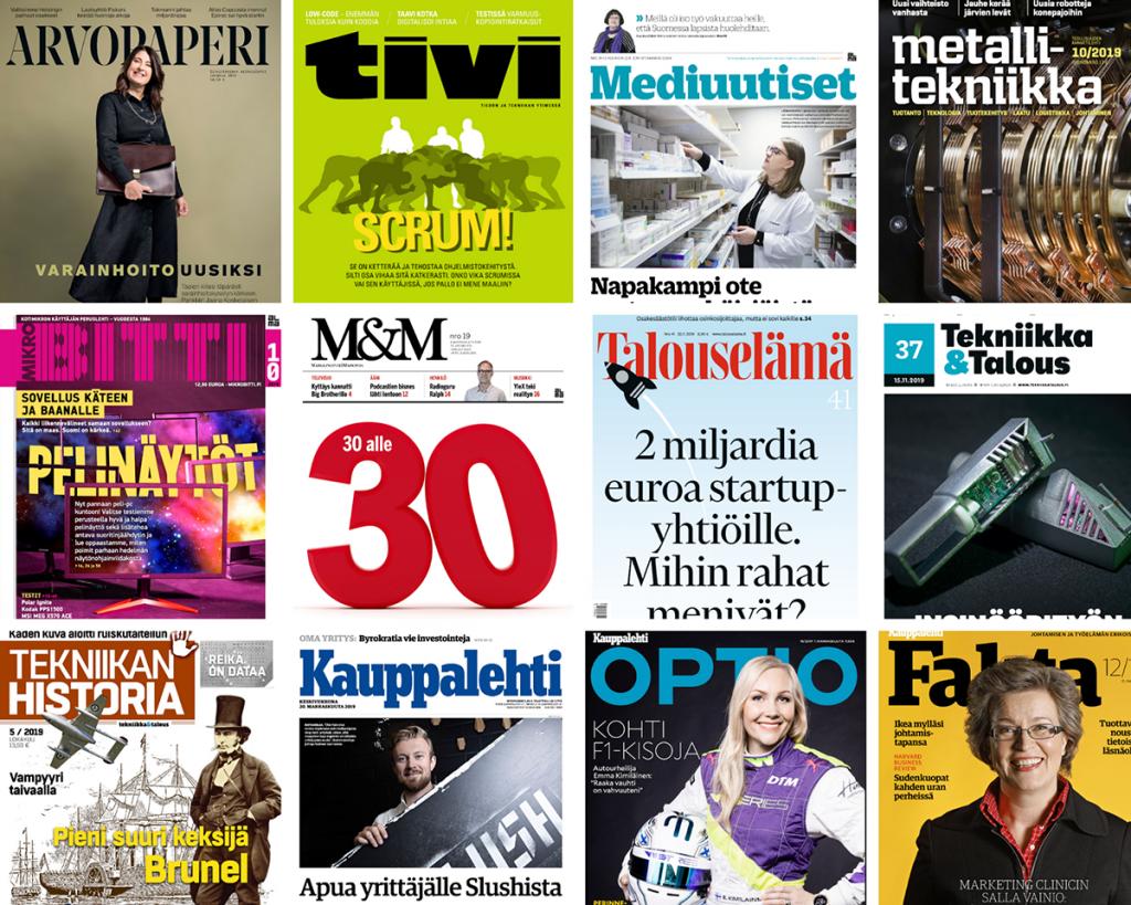 lehtien kansikuvia, magazine covers.