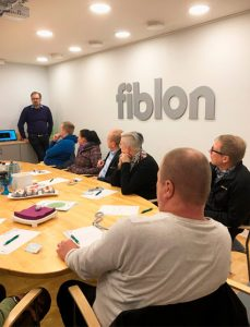 HSL-Robo -hankkeen vierailu Fiblon Oy:ssä