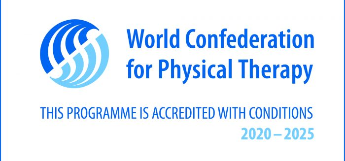 World Confederation for Physical Therapy accreditation.