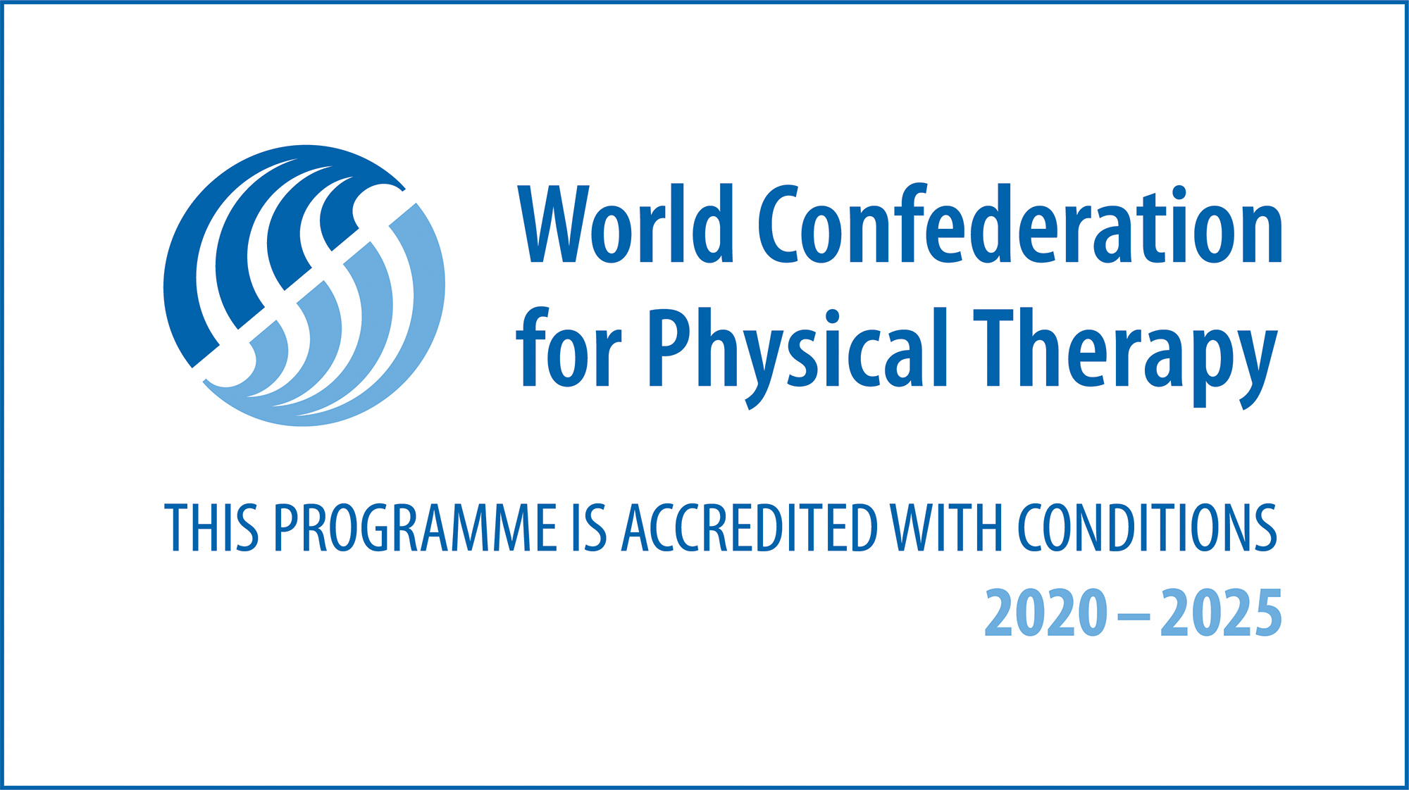 World Confederation for Physical Therapy Accredited
