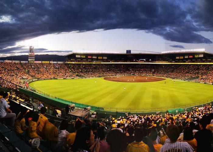 Kuva Hanshin Tigers vs. Yakult Swallows baseball-ottelusta.
