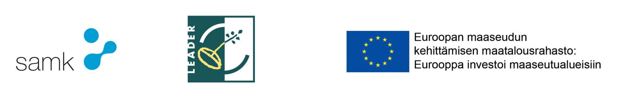 Logot Leader SAMK Euroopan maaseudun kehittämisen maatalousrahasto