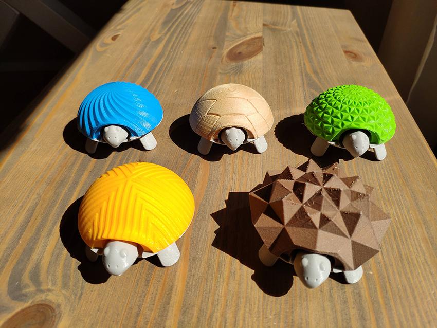 3D malleja, kilpikonnat.