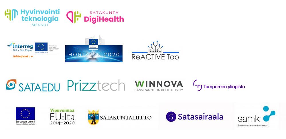 tapahtumaan osallistuvien organisaatioiden logot