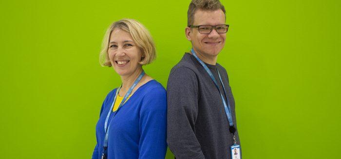 Anu Holm ja Juho Salli ovat järjestämässä Tekoäly ja terveysteknologia -tapahtumapäivää RoboAI-viikolla.