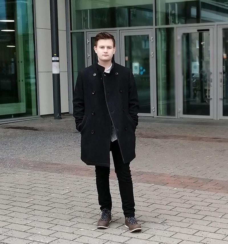 Anders Alhonpää kampuksella