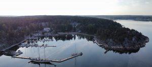 Satama kuvattuna ylhäältäpäin / Harbor photographed from above