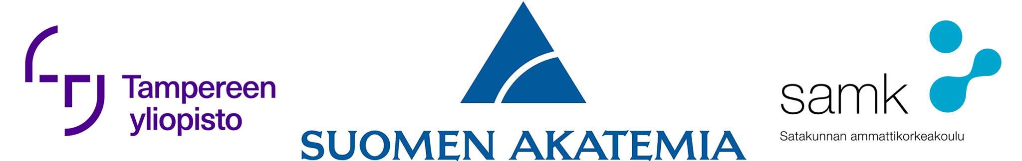 logoyhdistelmä, jossaTampereen yliopiston, Suomen Akatemian ja SAMKin logot.