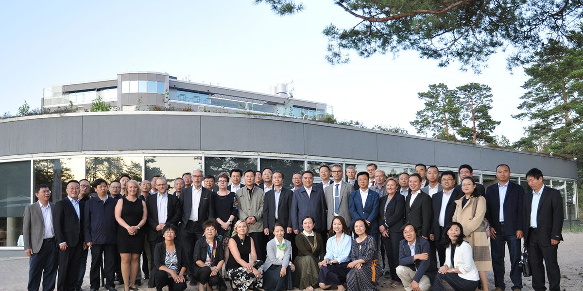 Higher education presidential delegation from China in Yyteri Finland, group photo