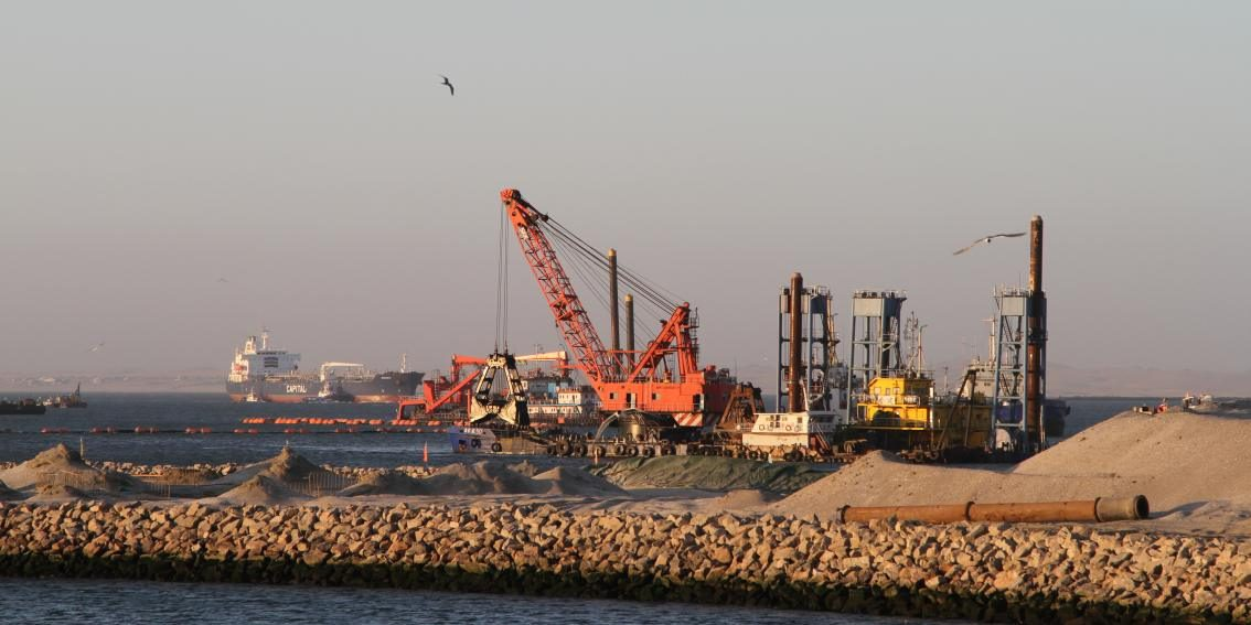 Walvis Bayn satamaa – A view from the Port of Walvis Bay